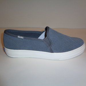 Keds Wide DOUBLE DECKER Gray Suede New Sneakers
